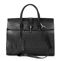 Donna Bella Glanna Embossed Convertible Large Satchel