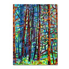Trademark Fine Art Mandy Budan 'In A Pine Forest' Canvas Wall Art