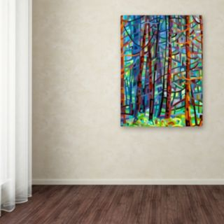"Trademark Fine Art Mandy Budan ""In A Pine Forest"" Canvas Wall Art"