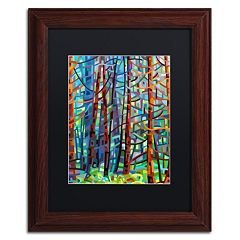 Trademark Fine Art Mandy Budan 'In A Pine Forest' Matted Framed Wall Art