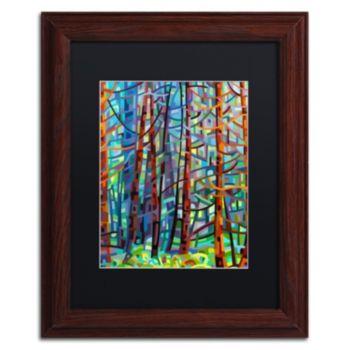 "Trademark Fine Art Mandy Budan ""In A Pine Forest"" Matted Framed Wall Art"