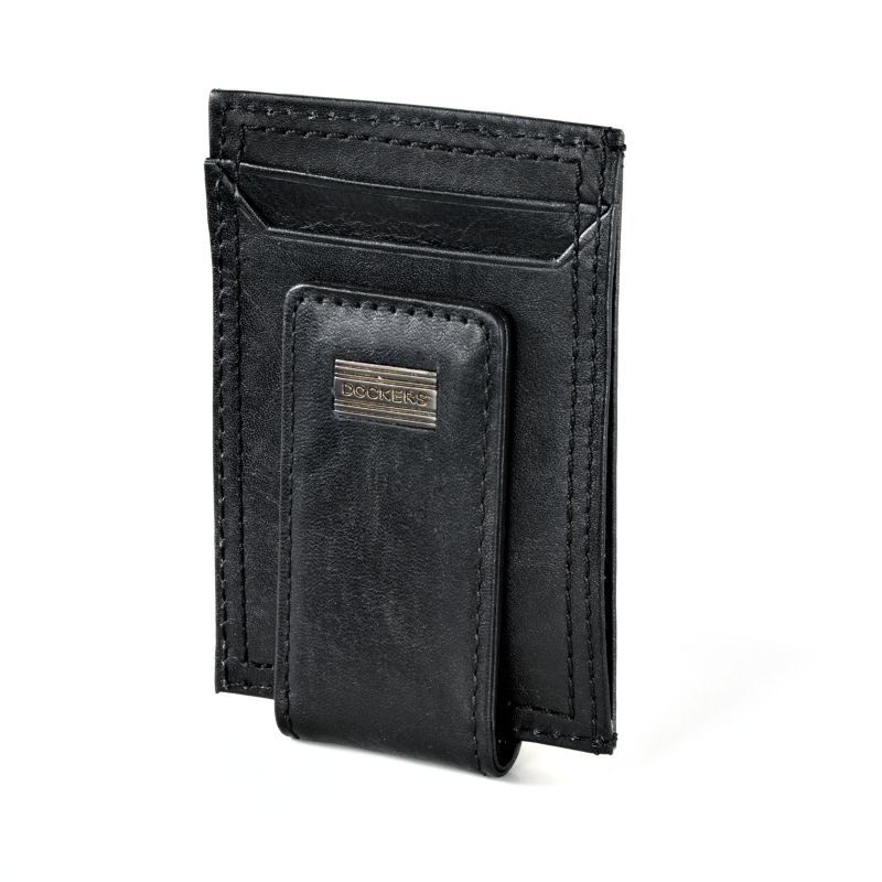 Men's Dockers® Leather Card Case Wallet, Black