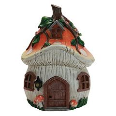 Exhart 9' Solar Mushroom House Outdoor Decor