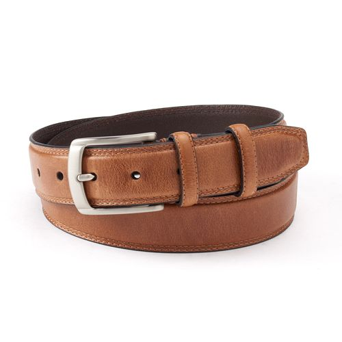 Men's Dockers® Drop-Edge Stitched Leather Belt