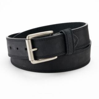 Men's Columbia Bridle Double-Stitched Brown Leather Belt