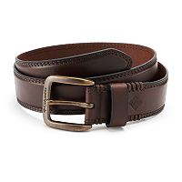 Men's Columbia Stitched Bridle Leather Belt