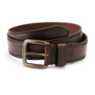 Men's Columbia Stitched Bridle Leather Belt