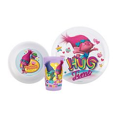DreamWorks Trolls 3 pc Kid's Dinnerware Set