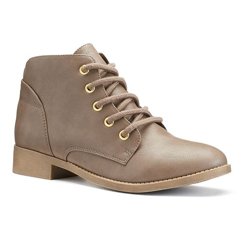 SO® Women's Lace-Up Ankle Boots