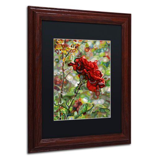 """Trademark Fine Art Mandy Budan """"Last Rose Of Summer"""" Matted Framed Wall Art"""