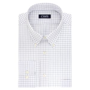 Men's Chaps Regular-Fit Plaid Wrinkle-Free Stretch Collar Dress Shirt