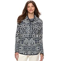 Women's Chaps Southwest Mockneck Sweater