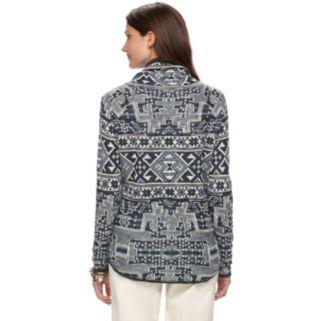 Women's Chaps Southwest Mockneck Sweater