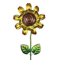 Exhart Sunflower Spinner Outdoor Garden Stake