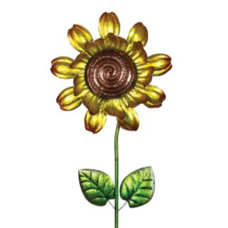 Exhart Sunflower Spinner Outdoor Garden Stake
