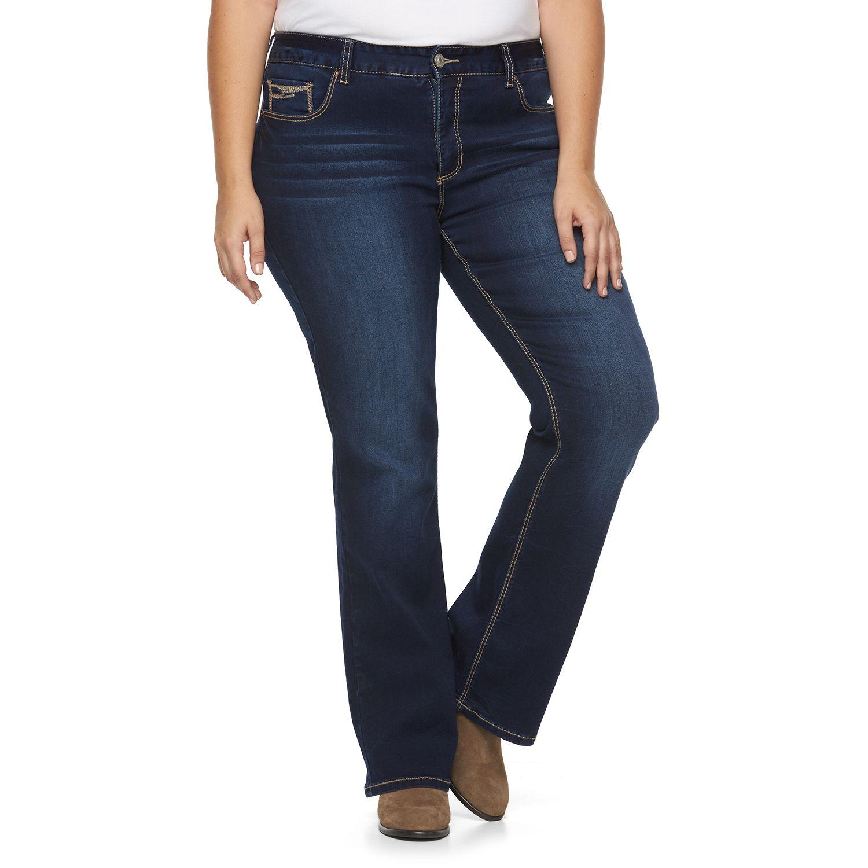 Plus Size Rhythm in Blues Slim Bootcut Jeans