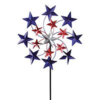 Exhart Star Spangled Spinner Outdoor Garden Stake