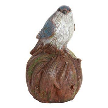 Exhart Solar Woodland Bird Outdoor Decor