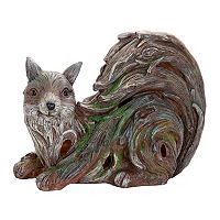 Exhart Solar Woodland Squirrel Outdoor Decor