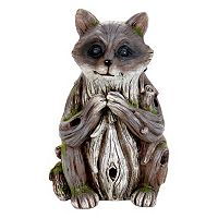 Exhart Solar Woodland Raccoon Outdoor Decor