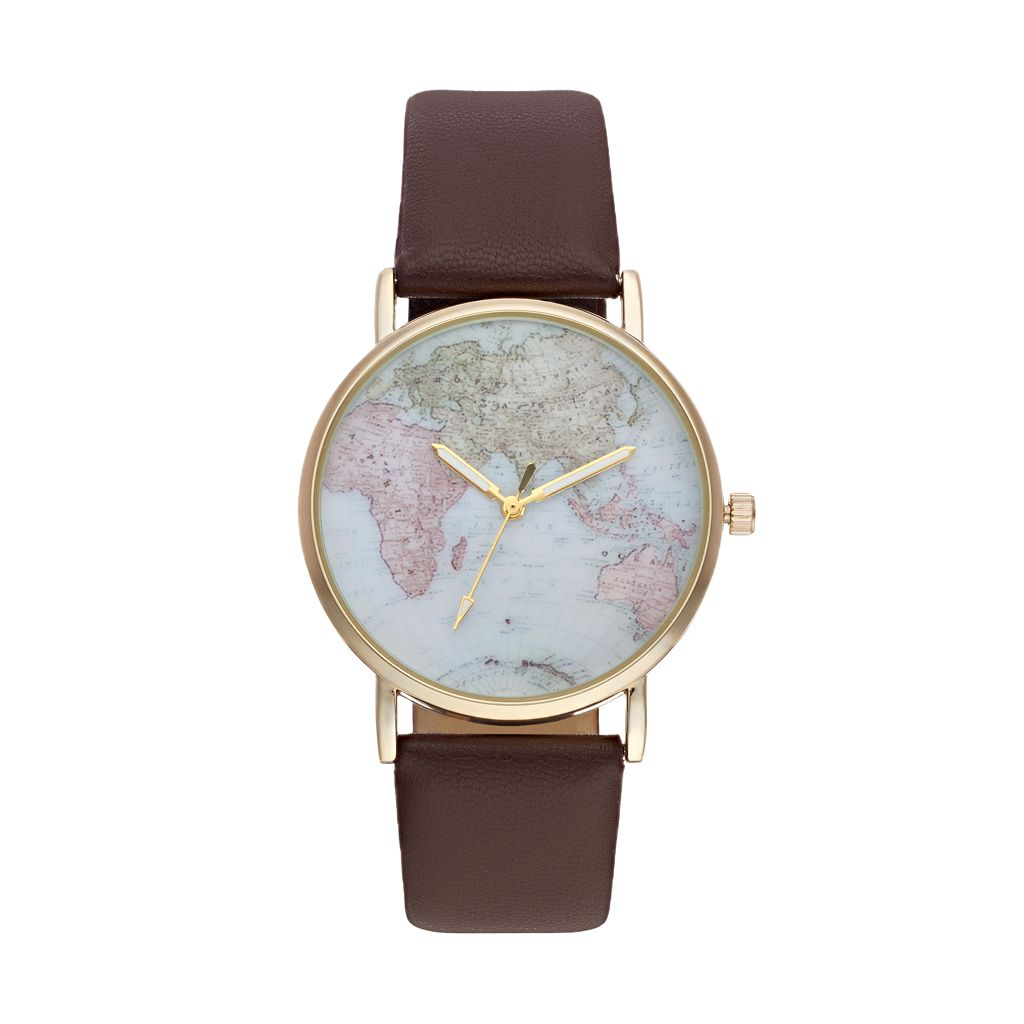 Vivani Women's World Map Watch