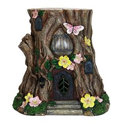 Exhart 17' Solar Floral Stump Statue Outdoor Decor