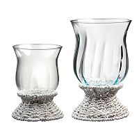 Global Amici Sea Breeze 2-pc. Assorted Hurricane Pillar Candleholder Set