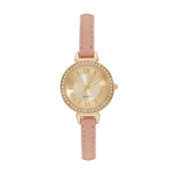 Vivani Women's Crystal Pink Watch