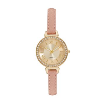 Vivani Women's Crystal Pink Watch