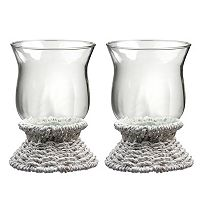 Global Amici Sea Breeze 2-pc. Hurricane Pillar Candleholder Set