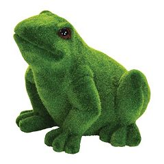 Exhart 9' Faux Moss Coated Frog Outdoor Decor