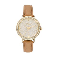 Vivani Women's Crystal Floral Watch