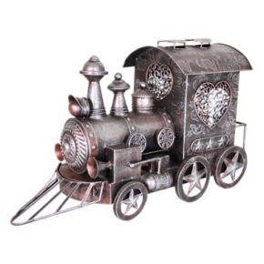 Exhart Metal Train Statue Outdoor Decor