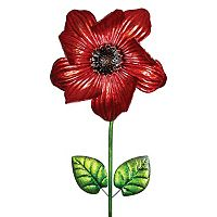 Exhart Poppy Spinner Outdoor Garden Stake