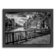 Americanflat Amsterdam Gentlemen's Canal Framed Wall Art