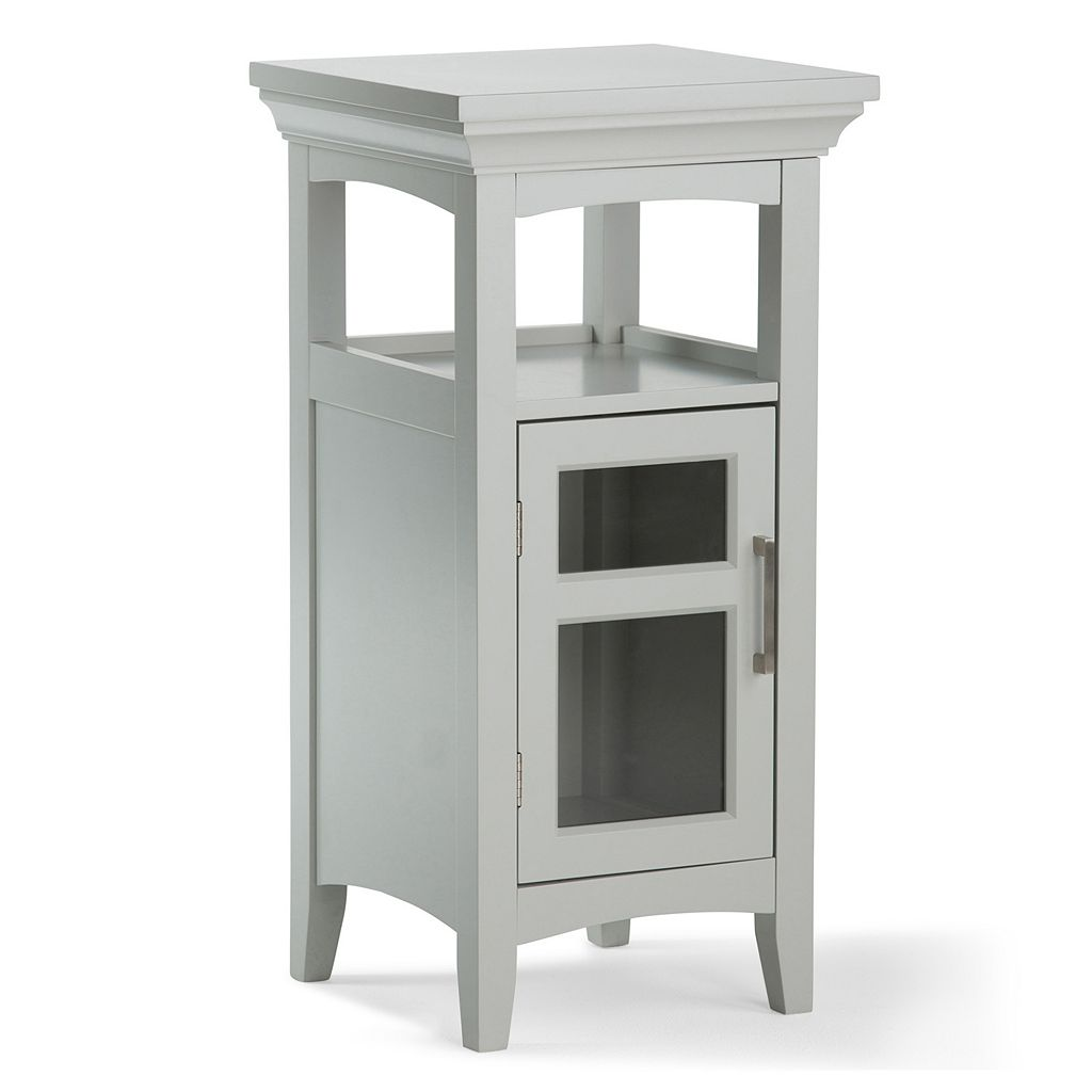 Simpli Home Avington Gray Floor Storage Cabinet