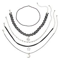 Mudd® Celestial Choker Necklace Set