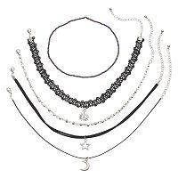 Mudd® Celestial Choker Necklace Set
