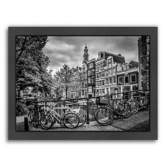 Americanflat Amsterdam Flower Canal Framed Wall Art
