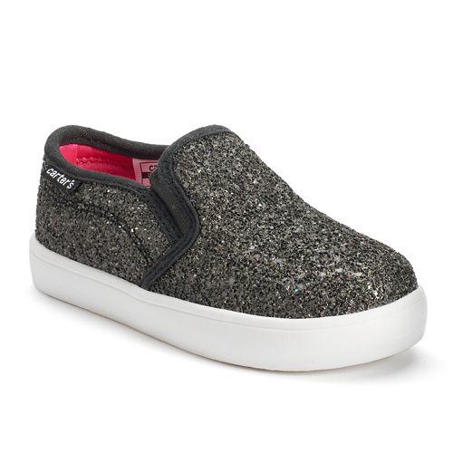 259201297699 Carter s Tween 4 Toddler Girls  Glitter Slip On Shoes