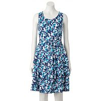 Women's Perceptions Floral Tiered Fit & Flare Dress