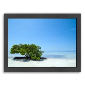 Americanflat Florida Lonely Tree Framed Wall Art