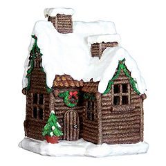 Exhart 12' LED Log Cabin Outdoor Decor