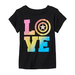 Girls 4-6x Marvel Captain America 'LOVE' Shield Tee