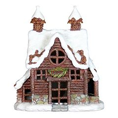 Exhart 12.5' LED Log Cabin Outdoor Decor