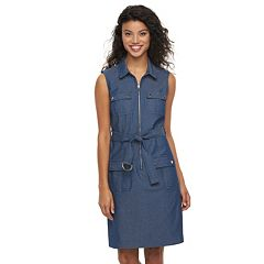 Women's Sharagano Denim Shirt Dress