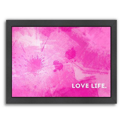 "Americanflat Emotional Art ""Love Life""  Framed Wall Art"