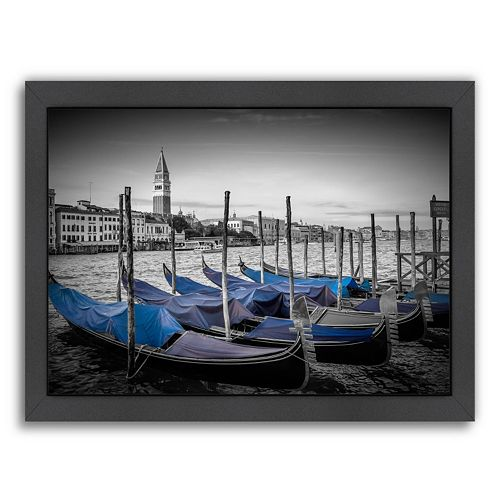Americanflat Venice Grand Canal & St Mark's Campanile II Framed Wall Art