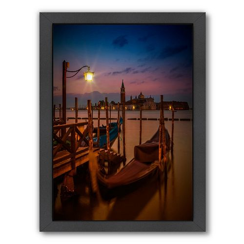 Americanflat Venice Gondolas At Sunrise Framed Wall Art