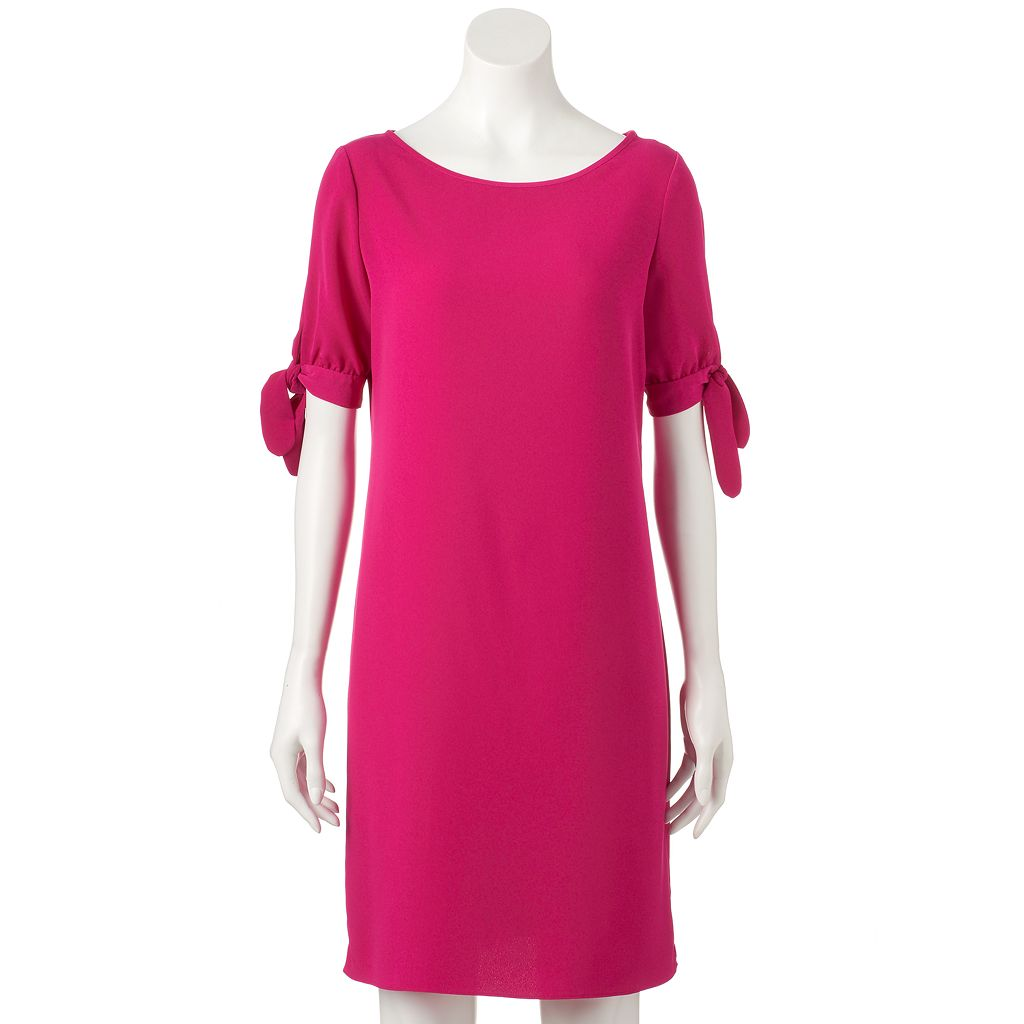 Women's DR by Donna Ricco Solid Shift Dress